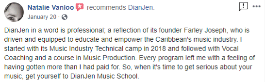 Review by past student, Natalie Vanloo
